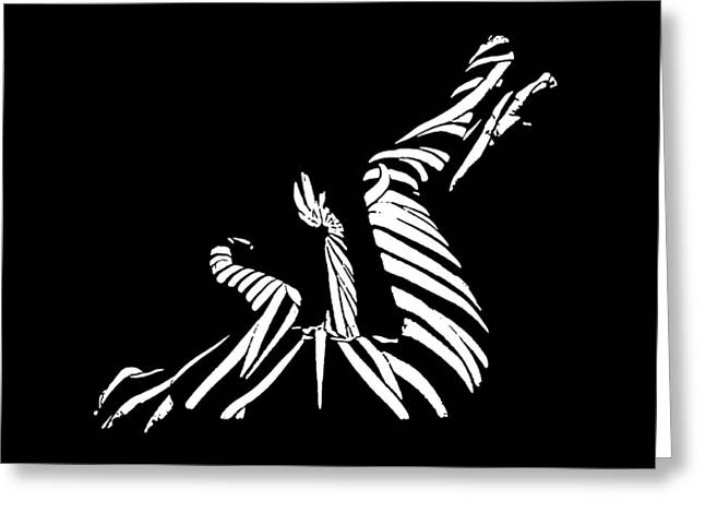 Nude Greeting Cards - 9435 BW Experimental Nude Abstract Greeting Card by Chris Maher