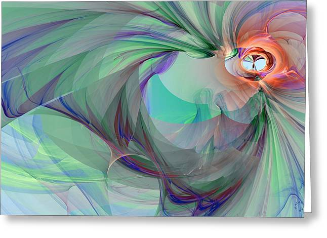 Generative Abstract Greeting Cards - 944 Greeting Card by Lar Matre