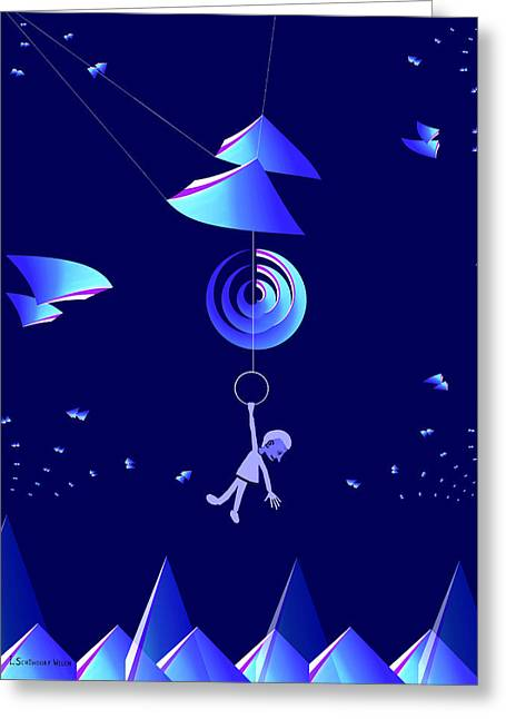 Dwelling Digital Art Greeting Cards - 949 - Lost in a complex world .... .... Greeting Card by Irmgard Schoendorf Welch