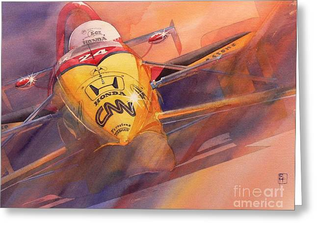 Indy Car Greeting Cards - 95 Winner Greeting Card by Robert Hooper