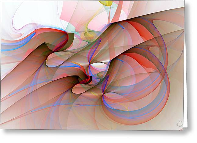 Generative Abstract Greeting Cards - 950 Greeting Card by Lar Matre