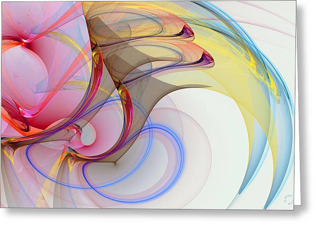 Generative Abstract Greeting Cards - 956 Greeting Card by Lar Matre