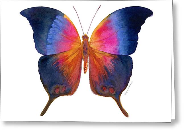 Background Paintings Greeting Cards - 96 Brushfoot Butterfly Greeting Card by Amy Kirkpatrick