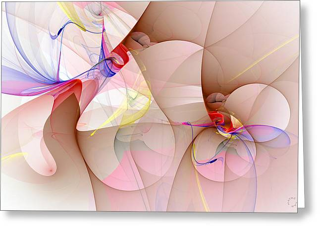 Generative Abstract Greeting Cards - 963 Greeting Card by Lar Matre