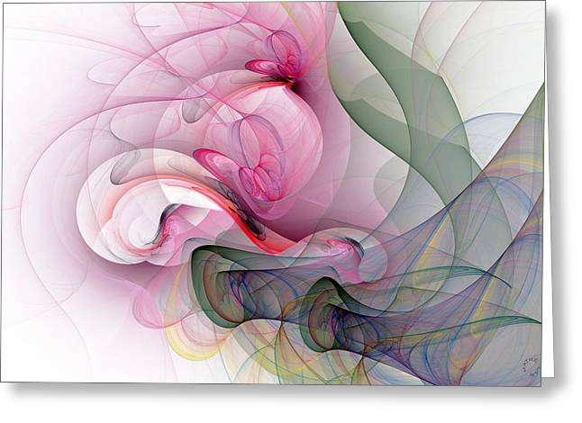 Recently Sold -  - Generative Abstract Greeting Cards - 970 Greeting Card by Lar Matre