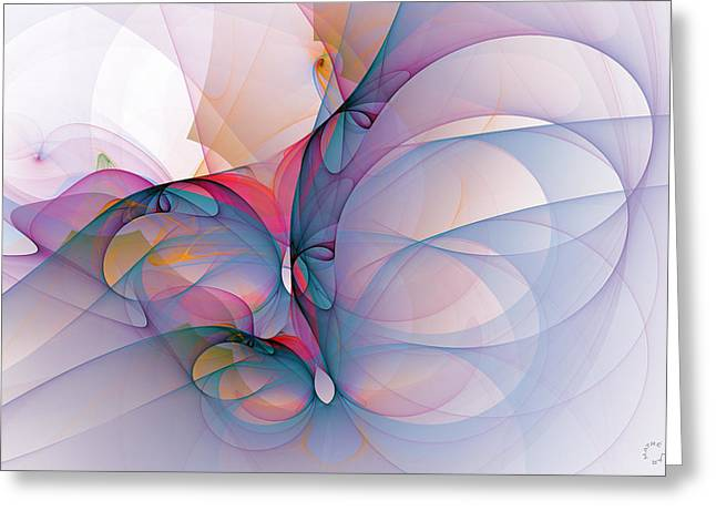 Generative Abstract Greeting Cards - 971 Greeting Card by Lar Matre
