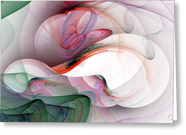 Generative Abstract Greeting Cards - 974 Greeting Card by Lar Matre