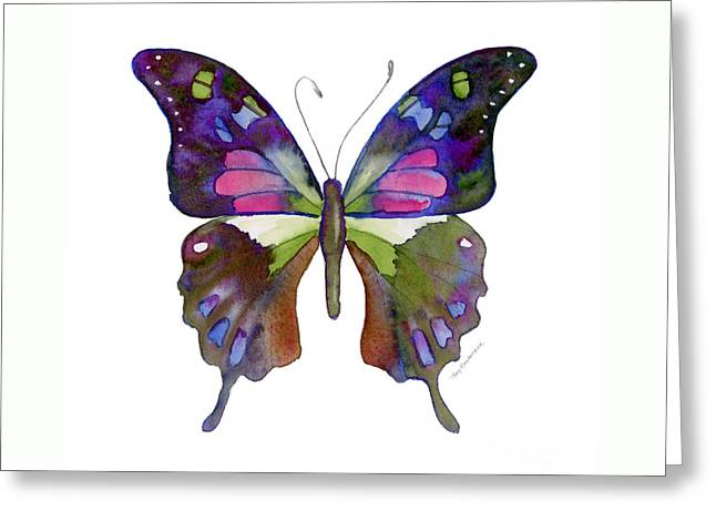 98 Graphium Weiskei Butterfly Greeting Card by Amy Kirkpatrick