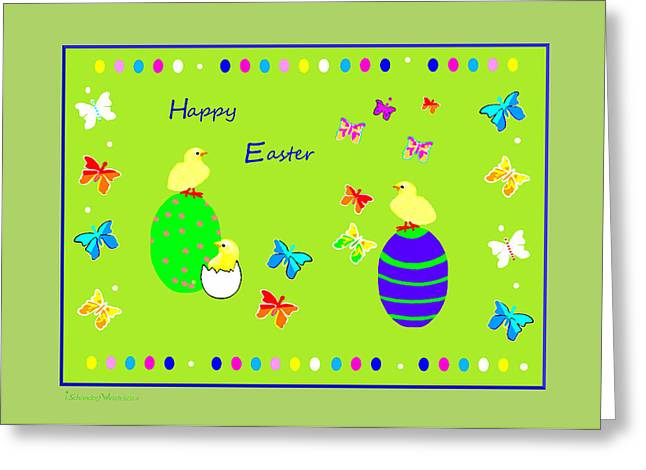 Fractal Greeting Cards Greeting Cards - 988 - Happy Easter   Greeting Card Greeting Card by Irmgard Schoendorf Welch