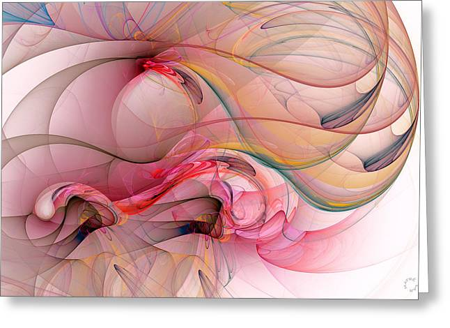 Generative Abstract Greeting Cards - 988 Greeting Card by Lar Matre