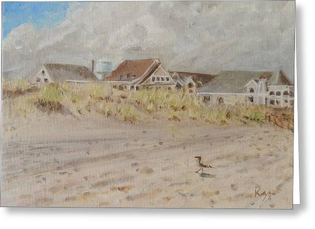 Summer Storm Paintings Greeting Cards - 98th Street Beach Stone Harbor New Jersey Greeting Card by Patty Kay Hall