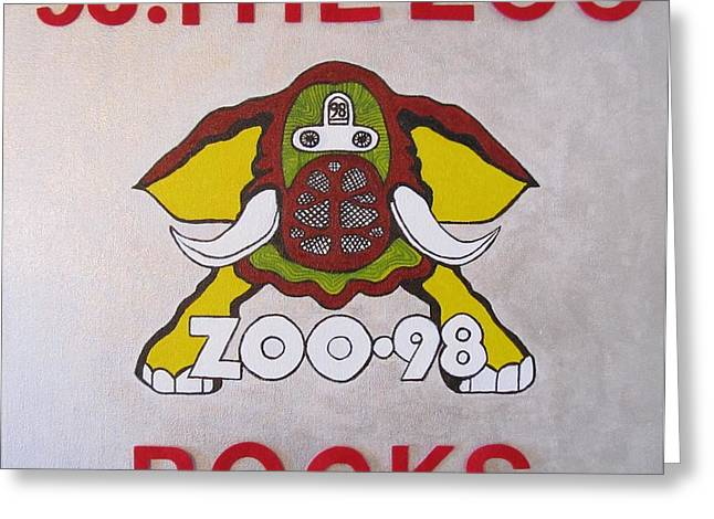 Led Zeppelin Greeting Cards Greeting Cards - 98.the Zoo Rocks Greeting Card by Donna Wilson