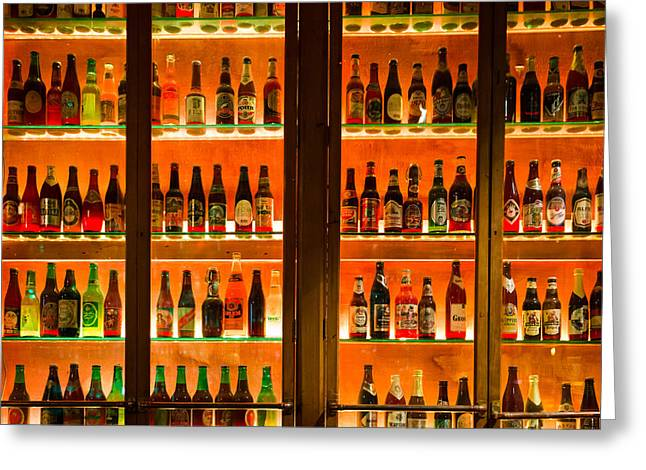 Bottle Cap Greeting Cards - 99 Bottles of Beer on the Wall Greeting Card by Semmick Photo