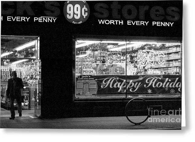 99 Cents - Worth Every Penny Greeting Card by Miriam Danar
