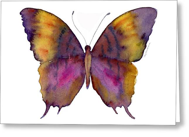 Perching Greeting Cards - 99 Marcella Daggerwing Butterfly Greeting Card by Amy Kirkpatrick