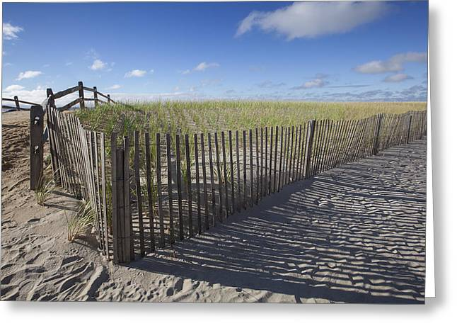 Jerseyshore Greeting Cards - 9th St. Beach Greeting Card by Al Hurley