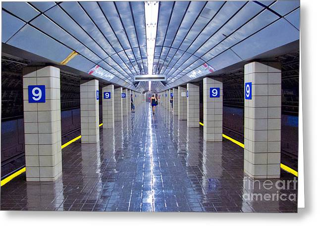 9th Street Station Greeting Card by Marco Crupi