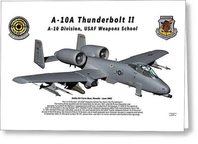 A-10a Thunderbolt II In Flight Greeting Card by Bob Tyler
