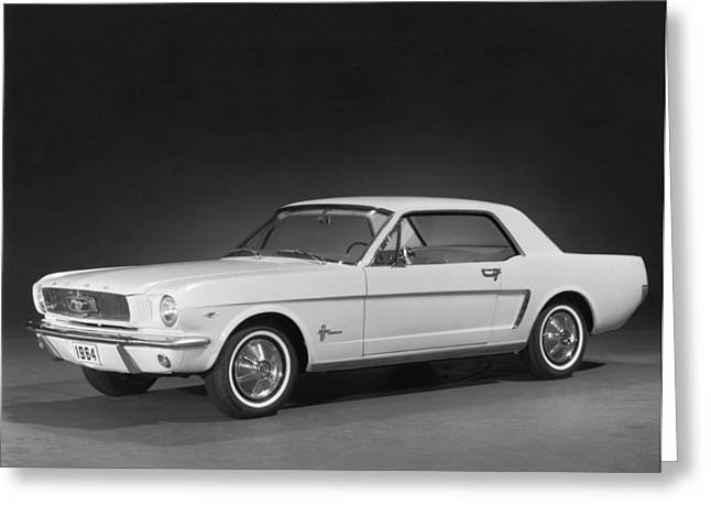Lustrous Greeting Cards - A 1964 Ford Mustang Greeting Card by Underwood Archives