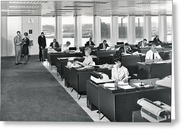 A 1965 Modern Office Greeting Card by Underwood Archives