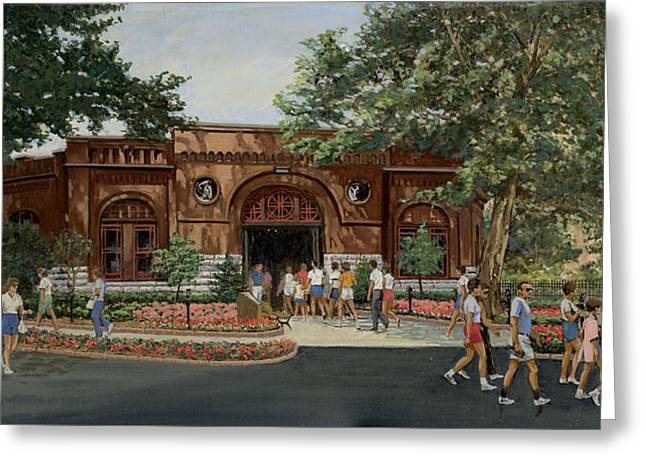 Busch Greeting Cards - Busch Stable Exterior  Greeting Card by Don  Langeneckert