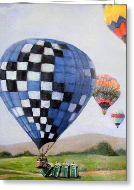 Donna Tucker Greeting Cards - A Balloon Disaster Greeting Card by Donna Tucker