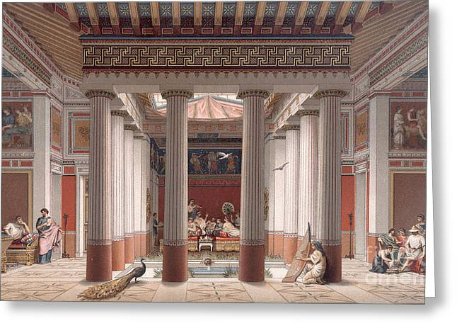 A Banquet In Ancient Greece Greeting Card by Nordmann