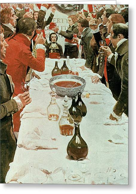 Citizens Photographs Greeting Cards - A Banquet To Genet, Illustration From Washington And The French Craze Of 93 By John Bach Mcmaster Greeting Card by Howard Pyle