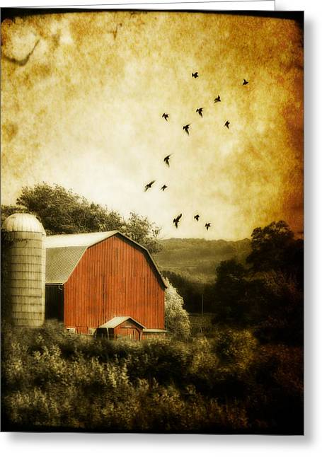 Old Barns Greeting Cards - A Barn Greeting Card by Gothicolors Donna Snyder