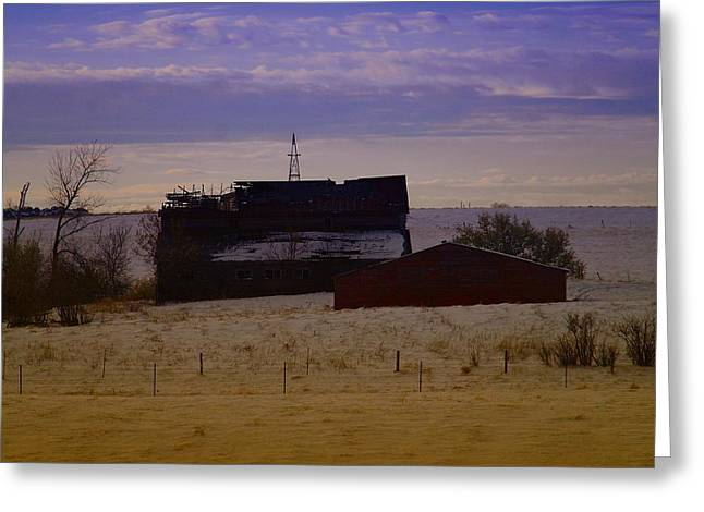 Barn Boards Greeting Cards - A Barn In Mcabe Montana Greeting Card by Jeff  Swan