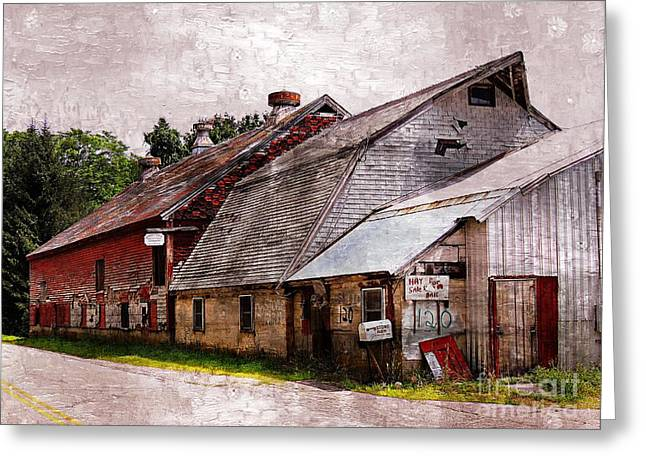 Red Roofed Barn Greeting Cards - A Barn With Many Purposes Greeting Card by Marcia Lee Jones