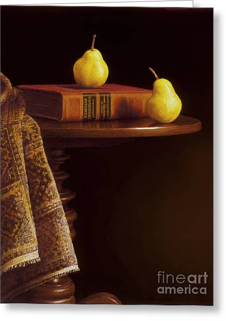 Candle Stand Greeting Cards - A Bartlett of a Different Kind Greeting Card by Barbara Groff