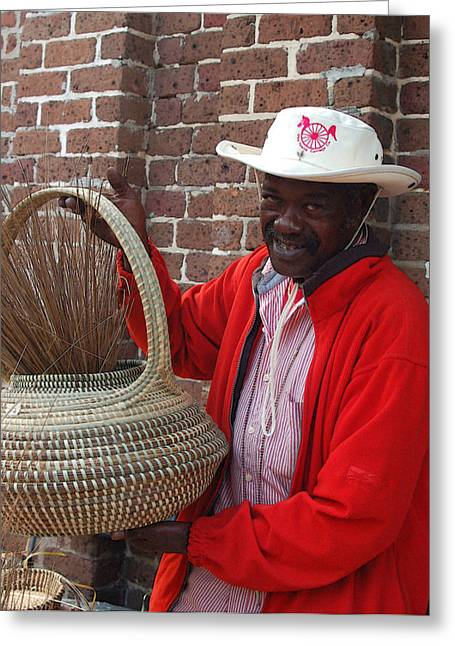 African-american Photographs Greeting Cards - A Basket Case Greeting Card by Suzanne Gaff