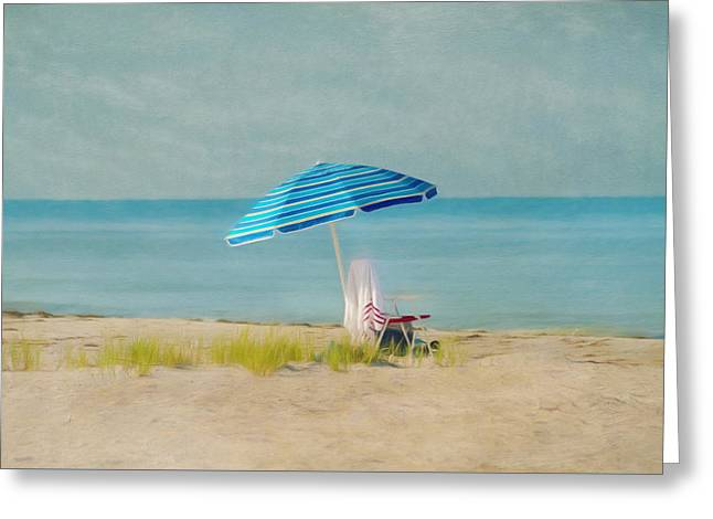 Essence Greeting Cards - A Beach Day Greeting Card by Kim Hojnacki