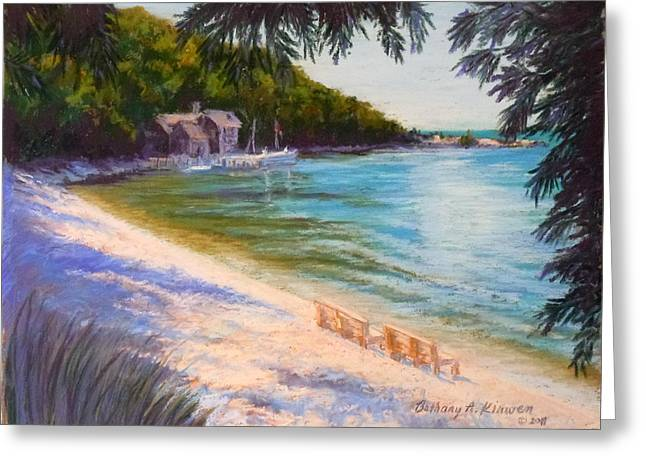 Pebbles Pastels Greeting Cards - A Beach Full of Blessings Greeting Card by Bethany Kirwen