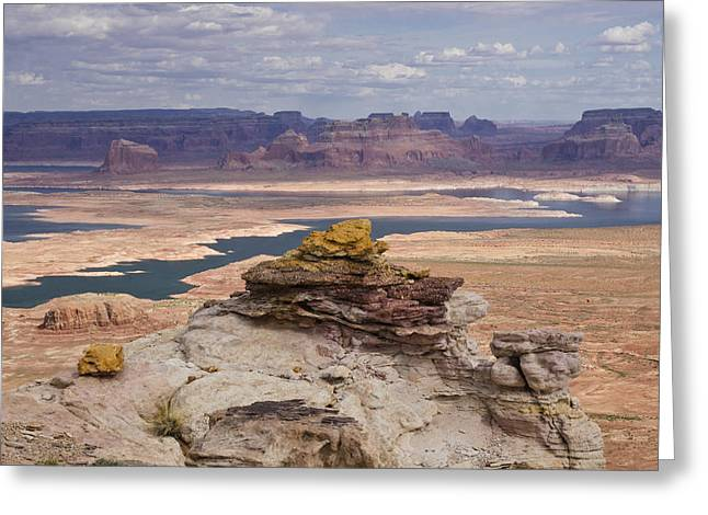 Desert Lake Greeting Cards - A Beautiful Day at Lake Powell  Greeting Card by Saija  Lehtonen