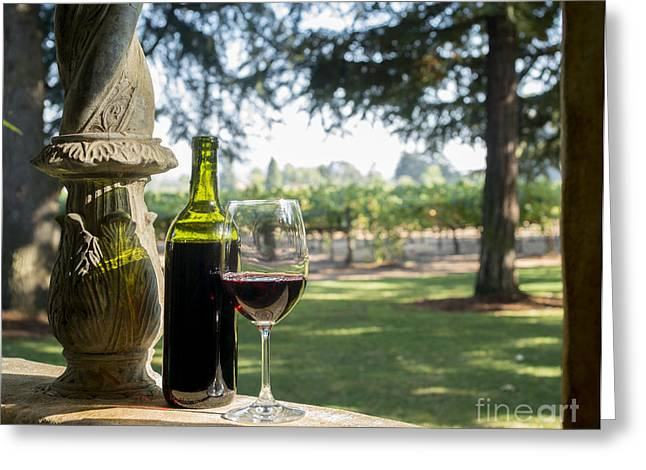 Wine Vineyard Greeting Cards - A Beautiful Day in Napa Greeting Card by Jon Neidert