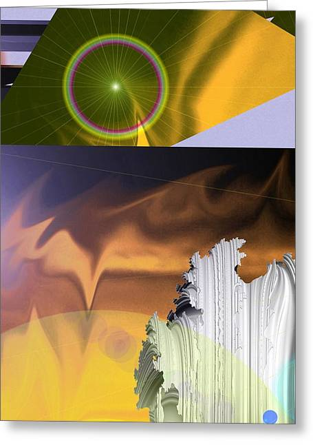 Abstract Digital Photographs Greeting Cards - A Beautiful Mad Mad World Greeting Card by Jeff  Swan