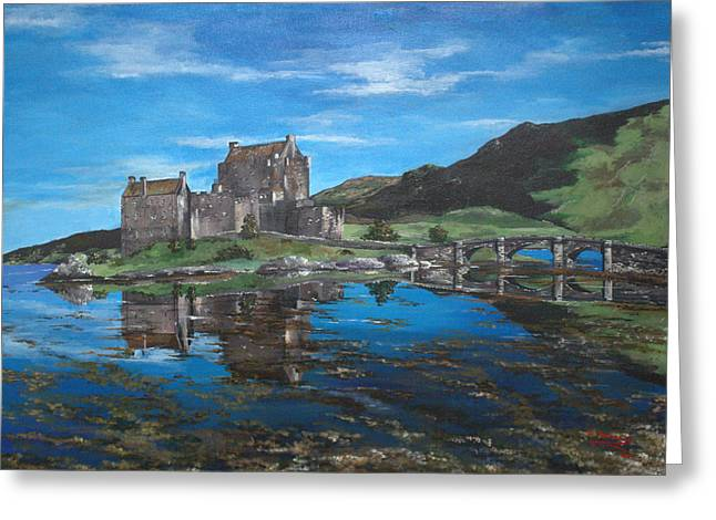Moat Mountain Greeting Cards - A Beautiful Scottish Day Greeting Card by Julia Robinson