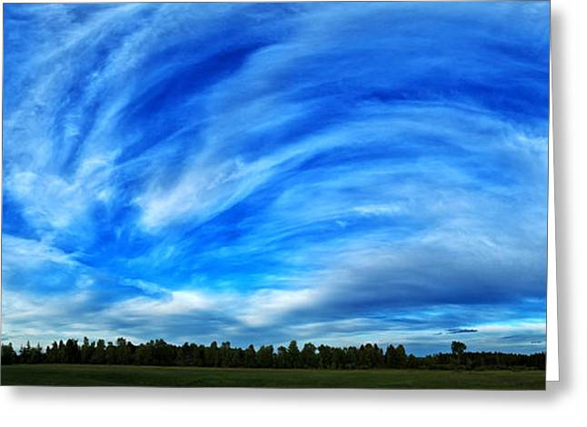 Abeautifulsky Greeting Cards - A Beautiful Sky Panorama Greeting Card by Bill Caldwell -        ABeautifulSky Photography