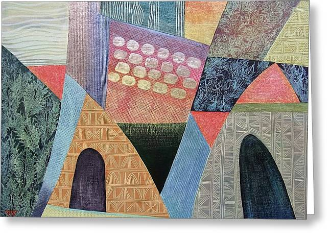 Portal Paintings Greeting Cards - A Beautiful Way in Greeting Card by Jennifer Baird