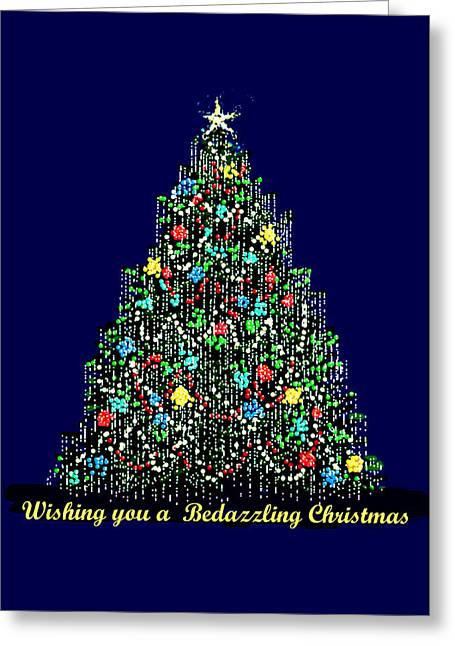 R Allen Swezey Greeting Cards - A Bedazzling Christmas Greeting Card by R  Allen Swezey