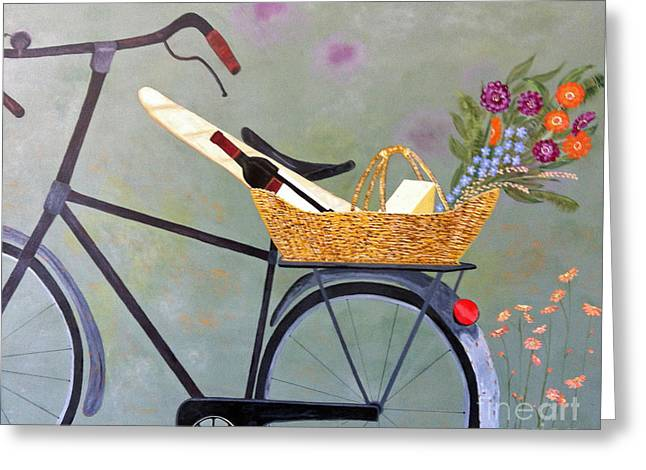 Brenda Brown Greeting Cards - A Bicycle Break Greeting Card by Brenda Brown