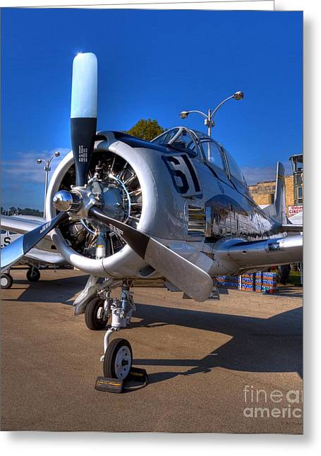 Airplane Engine Greeting Cards - A Big Engine Greeting Card by Mel Steinhauer