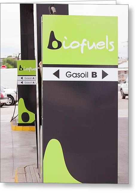 A Bio Fuel Petrol Station In Ecija Greeting Card by Ashley Cooper