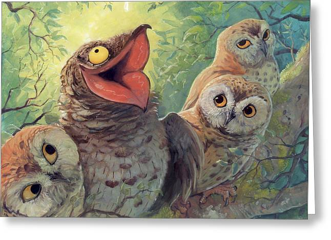 Storybook Greeting Cards - A Bird in this World Greeting Card by Jaimie Whitbread