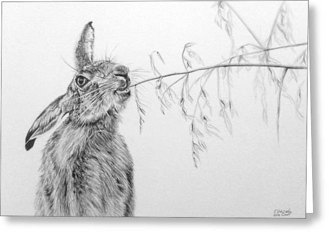 March Hare Greeting Cards - A Bit Of Brunch Greeting Card by Frances Vincent