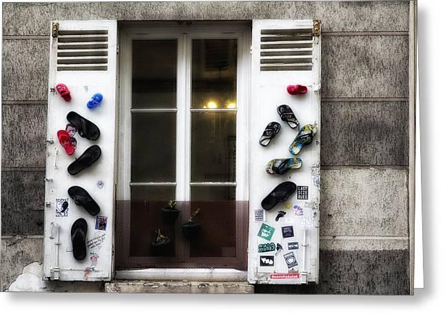 Window Display Greeting Cards - A Bizarre Window Display  Greeting Card by Nomad Art And  Design