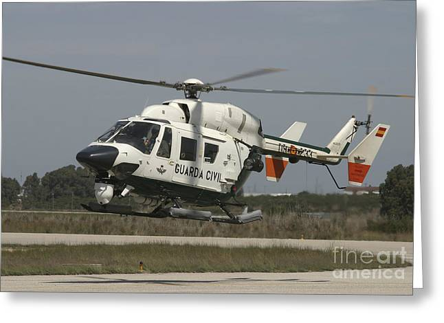 Utility Aircraft Greeting Cards - A Bk117 Utility Helicopter Greeting Card by Timm Ziegenthaler