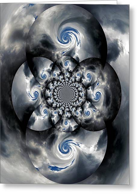 Abstract Digital Photographs Greeting Cards - A Black Hole Greeting Card by Skip Willits